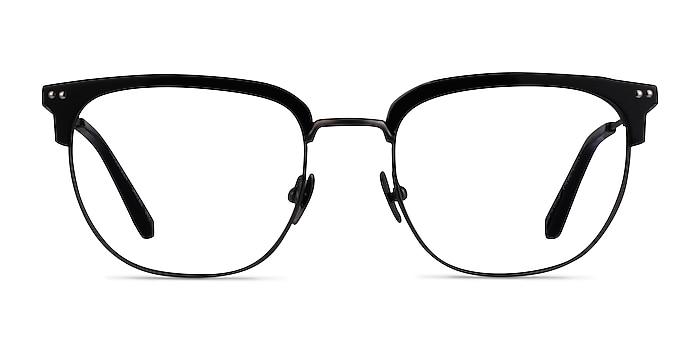 Cloudesley Black Gunmetal Acetate Eyeglass Frames from EyeBuyDirect