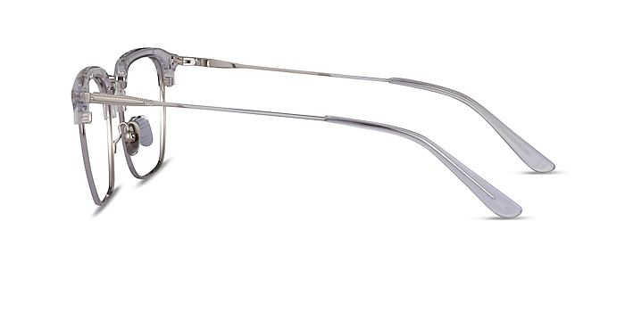 Concerto Clear Silver Acetate Eyeglass Frames from EyeBuyDirect