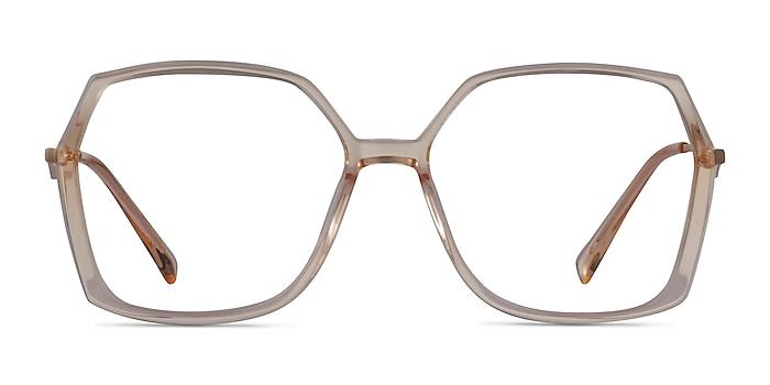 Ellipse Clear Yellow Acetate Eyeglass Frames from EyeBuyDirect