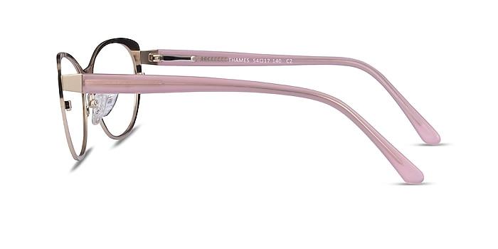 Thames Gold Acetate Eyeglass Frames from EyeBuyDirect