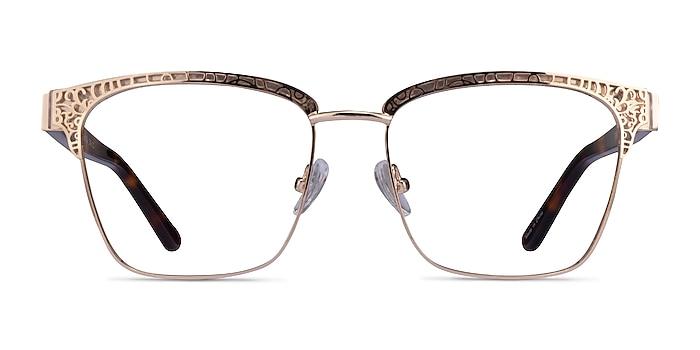 Scale Gold Tortoise Acetate Eyeglass Frames from EyeBuyDirect
