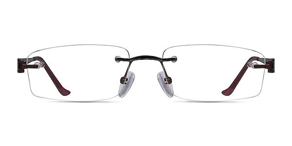 Ottawa Brown Metal Eyeglass Frames