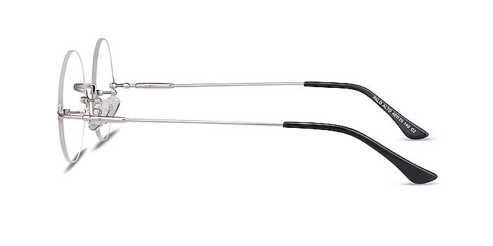Palo Alto Argenté Métal Montures de lunettes de vue d'EyeBuyDirect