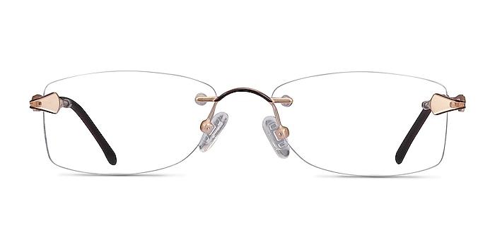 Rivet Golden/Brown Metal Eyeglass Frames from EyeBuyDirect