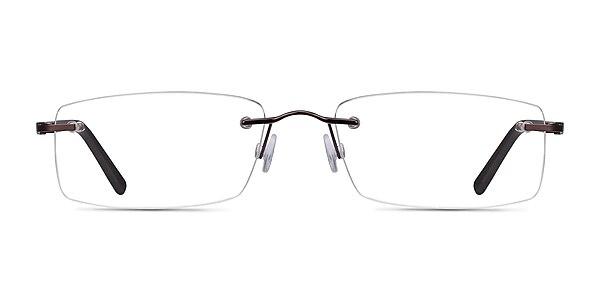 Edison Brown Metal Eyeglass Frames