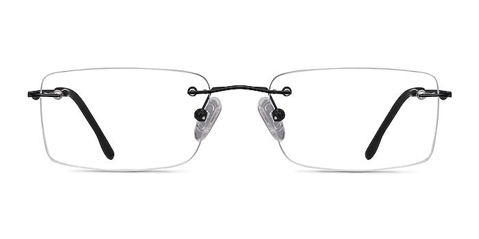 Woodrow Black Metal Eyeglass Frames from EyeBuyDirect