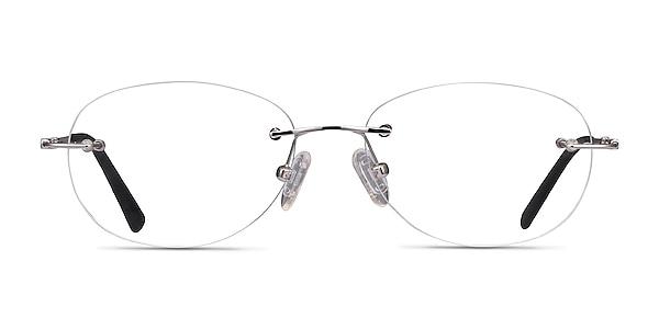 Market Silver Metal Eyeglass Frames