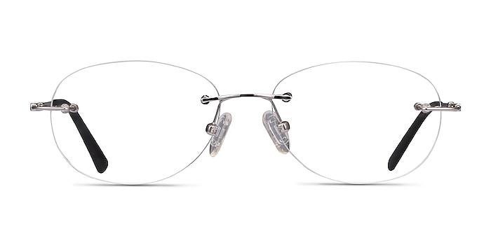 Market Argenté Métal Montures de lunettes de vue d'EyeBuyDirect