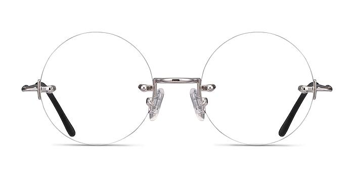 Palo Alto Silver Metal Eyeglass Frames from EyeBuyDirect
