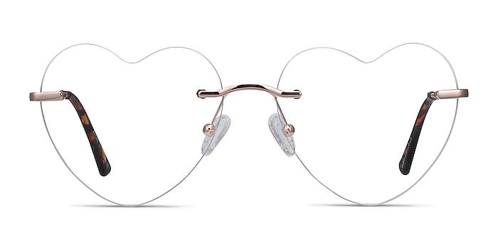 Amore Rose Gold Metal Eyeglass Frames from EyeBuyDirect