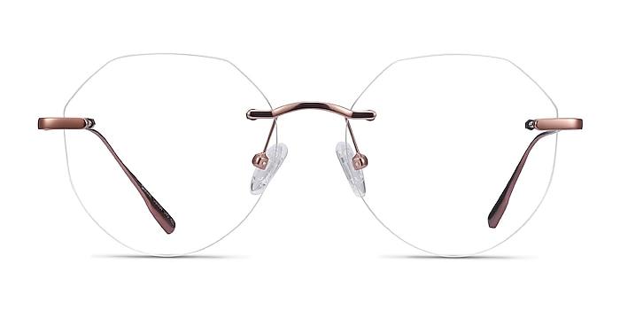 Sahar Rose Gold Metal Eyeglass Frames from EyeBuyDirect