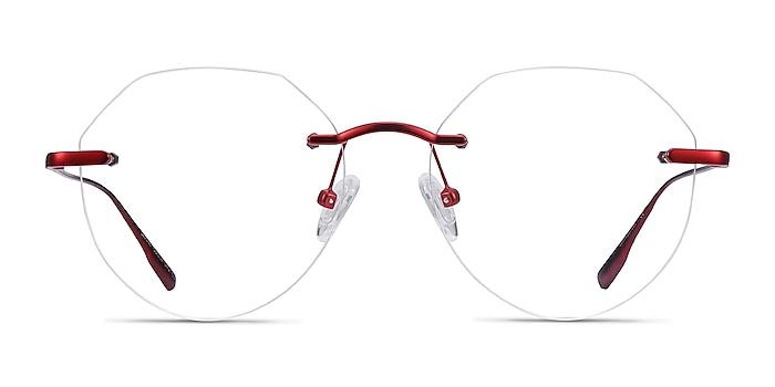 Sahar Rouge Métal Montures de lunettes de vue d'EyeBuyDirect