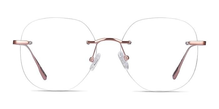 Lisa Rose Gold Metal Eyeglass Frames from EyeBuyDirect