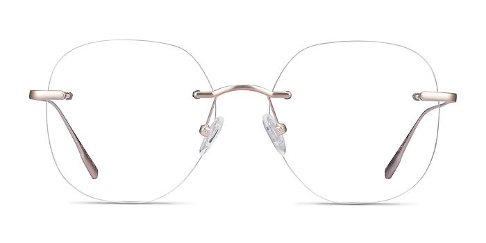 Lisa Gold Metal Eyeglass Frames from EyeBuyDirect