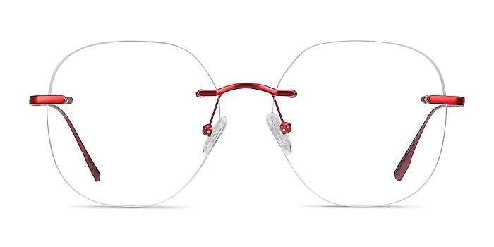 Lisa Red Metal Eyeglass Frames from EyeBuyDirect