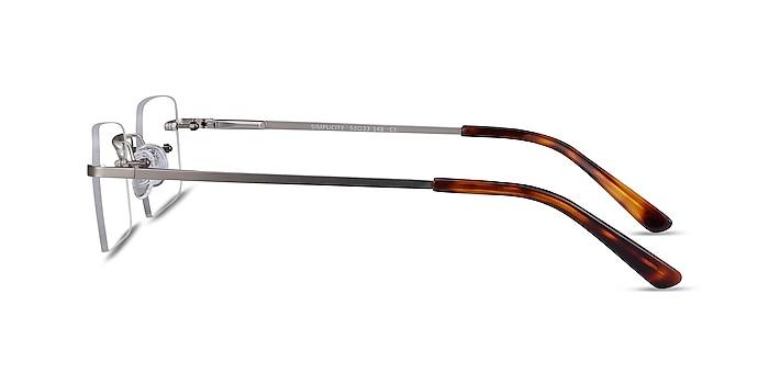 Simplicity Silver Metal Eyeglass Frames from EyeBuyDirect