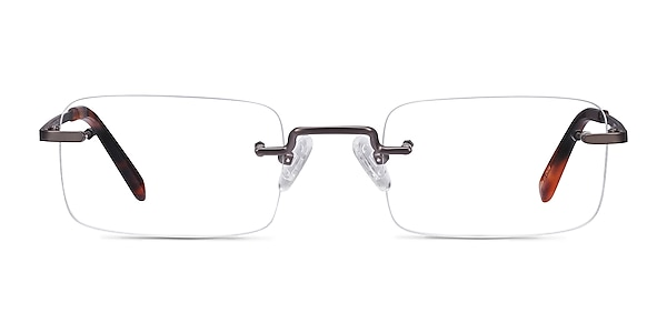 Simplicity Gunmetal Metal Eyeglass Frames