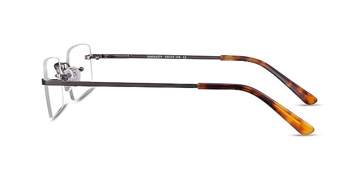 Simplicity Gunmetal Metal Eyeglass Frames from EyeBuyDirect