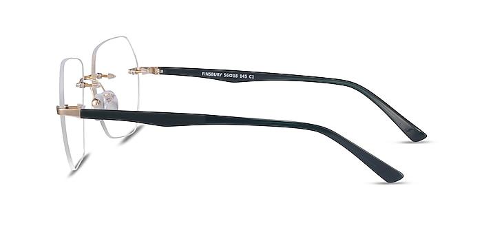 Finsbury Light Gold Acetate Eyeglass Frames from EyeBuyDirect