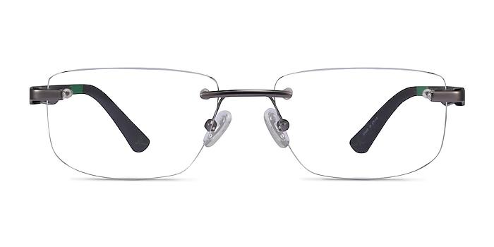 Turbine Matte Gunmetal Métal Montures de lunettes de vue d'EyeBuyDirect