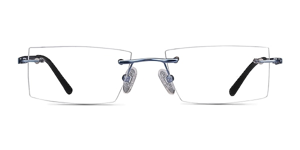 Primo Bleu Métal Montures de lunettes de vue