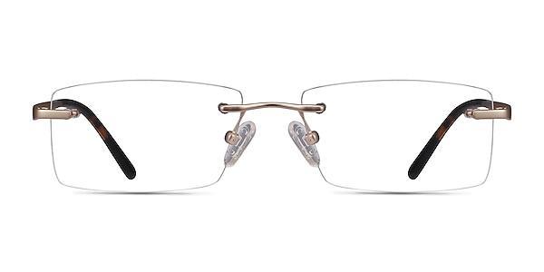 Noble Golden Metal Eyeglass Frames
