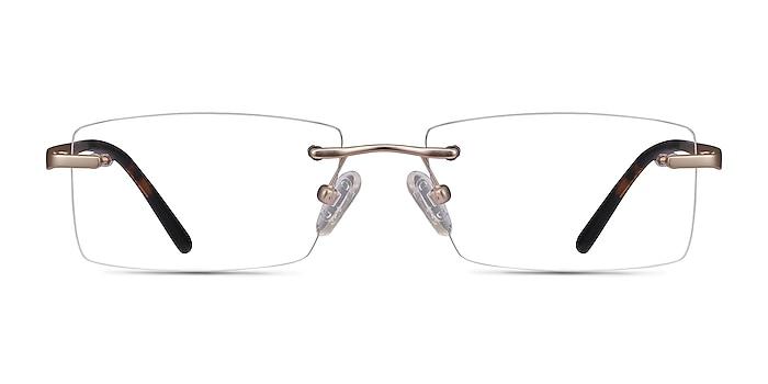 Noble Golden Metal Eyeglass Frames from EyeBuyDirect