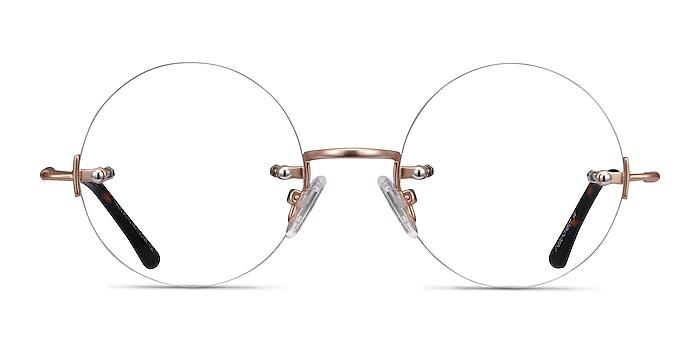 Palo Alto Golden Metal Eyeglass Frames from EyeBuyDirect