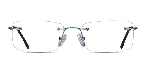 Woodrow Blue Metal Eyeglass Frames