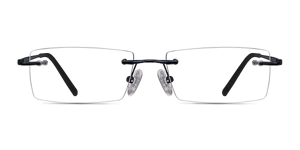 Regis Blue Metal Eyeglass Frames