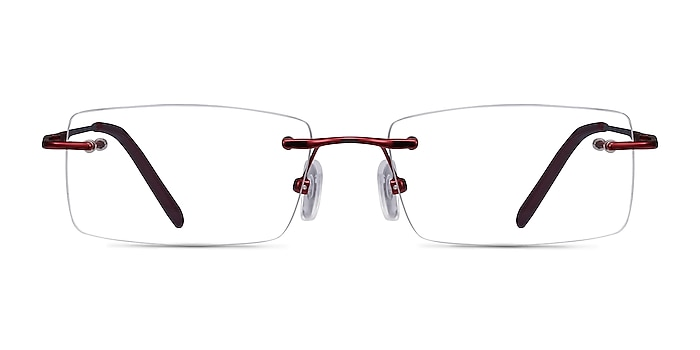 Earl Burgundy Metal Eyeglass Frames from EyeBuyDirect