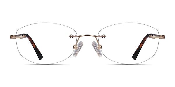 Athena Gold Metal Eyeglass Frames