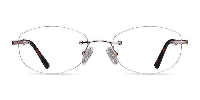 Athena Rose Gold Métal Montures de lunettes de vue d'EyeBuyDirect