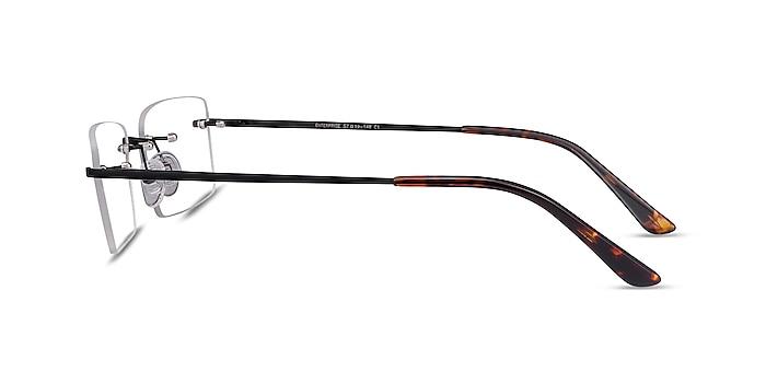 Enterprise Black Metal Eyeglass Frames from EyeBuyDirect