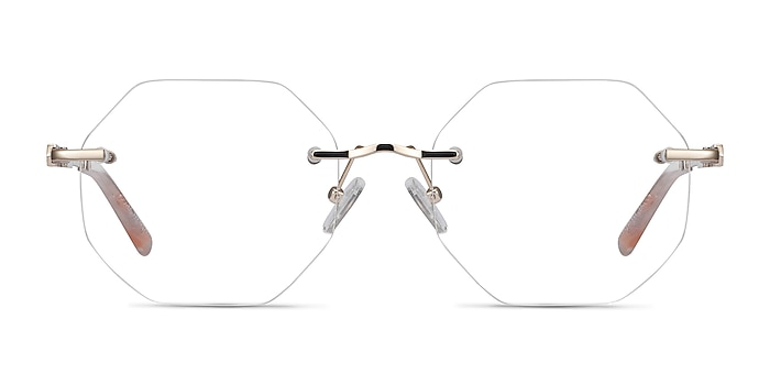 Glas Gold Metal Eyeglass Frames from EyeBuyDirect