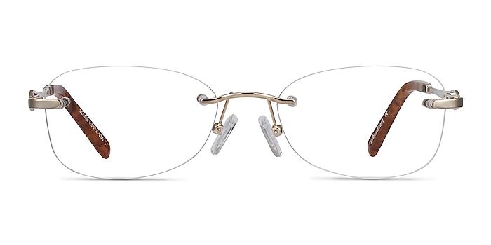 Scene Gold Metal Eyeglass Frames from EyeBuyDirect