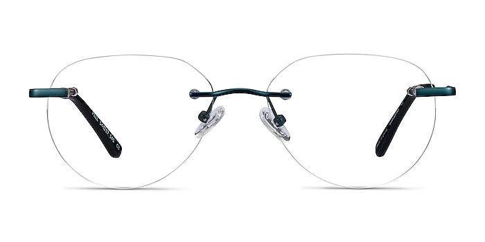 Feel Navy Metal Eyeglass Frames from EyeBuyDirect