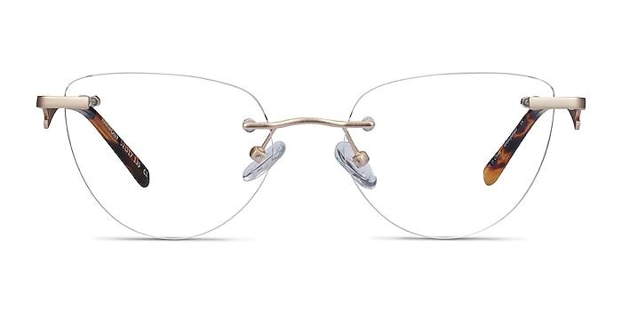 Harmony Matte Gold Metal Eyeglass Frames from EyeBuyDirect