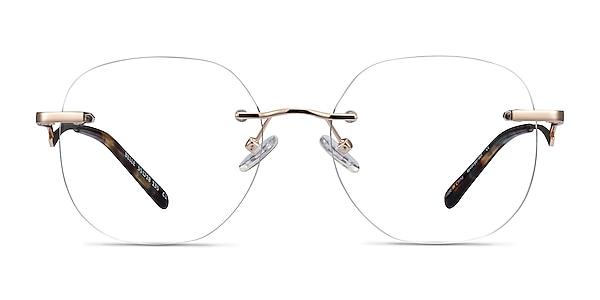 Belle Doré Métal Montures de lunettes de vue