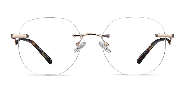 Belle Gold Metal Eyeglass Frames from EyeBuyDirect