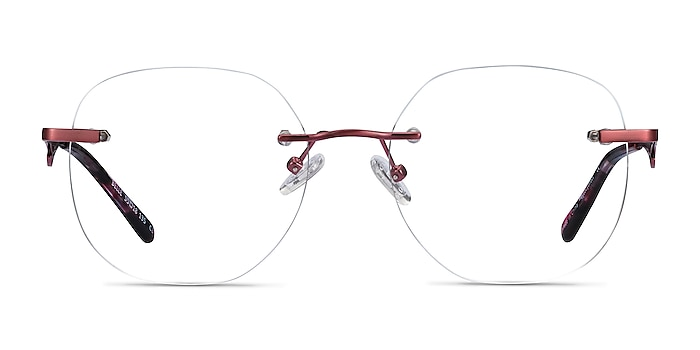 Belle Burgundy Metal Eyeglass Frames from EyeBuyDirect