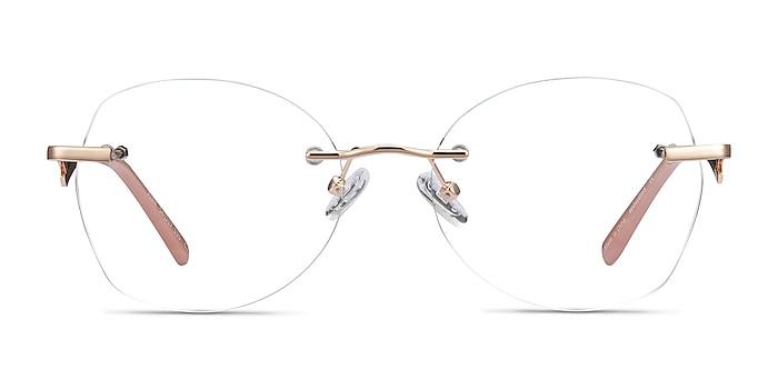 Ajar Gold Metal Eyeglass Frames from EyeBuyDirect