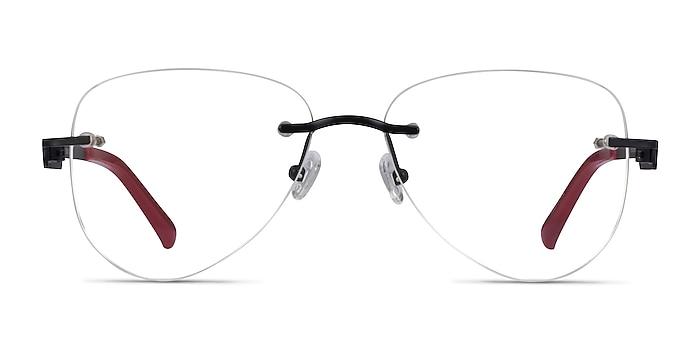 Ride Black Burgundy Metal Eyeglass Frames from EyeBuyDirect