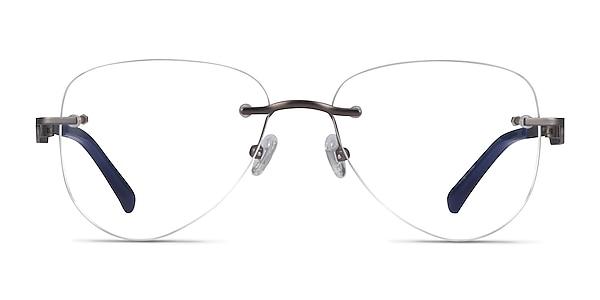 Ride Gunmetal Blue Metal Eyeglass Frames
