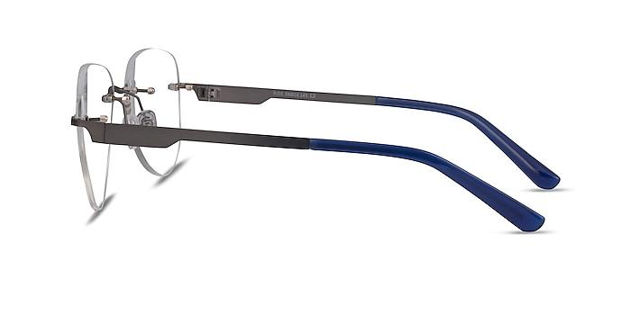 Ride Gunmetal Blue Métal Montures de lunettes de vue d'EyeBuyDirect