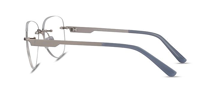Ride Silver Light Gray Métal Montures de lunettes de vue d'EyeBuyDirect
