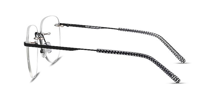 Ritzy Black Metal Eyeglass Frames from EyeBuyDirect