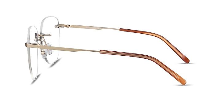 Ritzy Gold Metal Eyeglass Frames from EyeBuyDirect