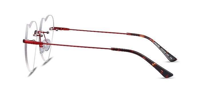 Amore Burgundy Metal Eyeglass Frames from EyeBuyDirect