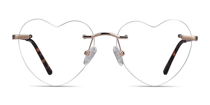 Amore Rose Gold Métal Montures de lunettes de vue d'EyeBuyDirect